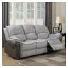 Farnham Fusion Grey Fabric Sofa 3 Seat Recliner