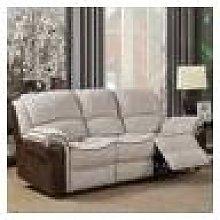 Farnham Fusion Mink Fabric Sofa 3 Seat Recliner