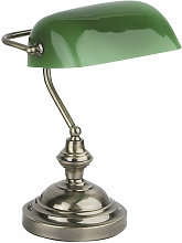 Faro Barcelona - Banker aged gold desk lamp 1 bulb