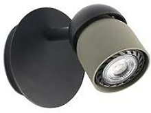 Faro Coco - Wall Spotlight Black, Olive Green 1x