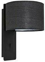Faro Fold - Wall Light Black with Shade E27