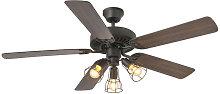 Faro Lighting - Faro ALOHA Brown Ceiling Fan With