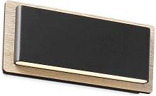 Faro Mood - Wood Wall Lamp Black 2x 3W