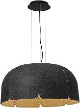 Faro Mute - LED Dome Ceiling Pendant Light Brown,