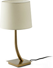 Faro REM - Table Lamp Round Tapered Beige, E27