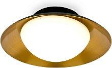 Faro Side - Led Black Copper Flush Ceiling Lamp G9