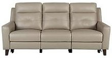 Farrow Leather 3 Seater Power Recliner Sofa