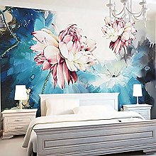 Fashion 3D Floral Mural Background Wall Covering