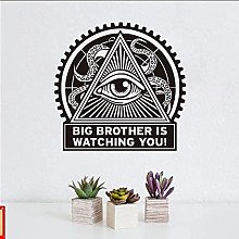 Fashion Art Wall Sticker Big Brother is Watching