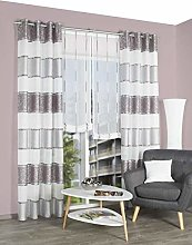 FASHION FOR HOME 053909-0305 Eyelet Curtain 245 x
