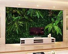 Fashion Interior Wallpaper Rainforest Leaves Green