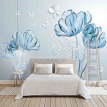 Fashion Mural 3D Hd Butterfly Flower Bedroom