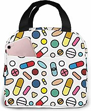 Fashion Pill Lunch Bag Reusable Insulated Cooler