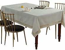 Fashion Solid Color Linen Tablecloth Rectangular