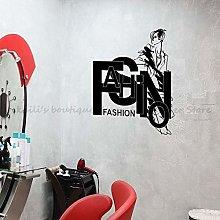 Fashion Style Beautiful Woman Vinyl Wall Stticker