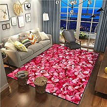 Fashionable And Simple Rose Flower Series Carpet
