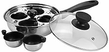 Fasmov Egg Poacher Pan, Stainless Steel Poached