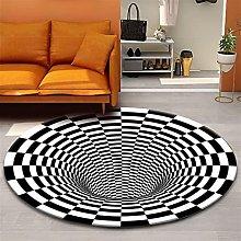 FASZFSAF Luxury 3D Area Rug Floor Mat Round
