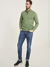 FATFACE Green Seaford Cotton Half Neck Jumper - XL