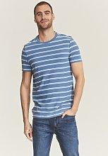 FATFACE Lulworth Blue Stripe T-Shirt - XS