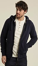 FATFACE Navy Blue Zip Through Hoodie - XS