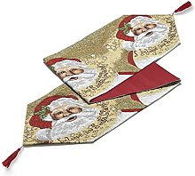Father Christmas Table Runner Dining Cloth