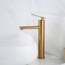 Faucet Basin Faucet Brushed Gold Brass Bathroom