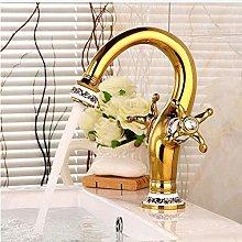 Faucet Basin Faucet Golden Dual Handle Faucet