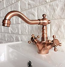 Faucet Basin Faucets Antique Red Copper Bathroom