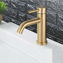 Faucet for Home Stainless Steel Brushed Gold Round