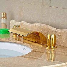 Faucet for Home Swivel Spout Tap Golden Polish