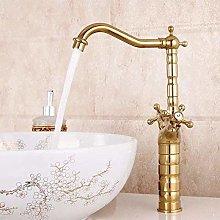 Faucet Gold Color Basin Faucet Deck Mounted