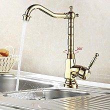 Faucet Gold Color Bathroom Sink Faucet Mixer