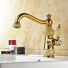 Faucet Gold Faucet Bathroom Faucet Jade Body Basin