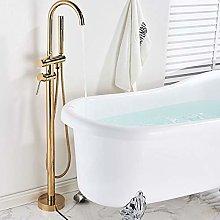 Faucet Kitchen Shower Brushed Gold Bathtub Floor