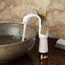 Faucet Kitchen Tap Luxury Swan Shape Brass Basin