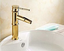 Faucet Taps Gold Polished Brass Faucet Bathroom