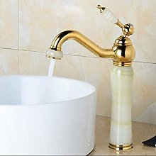 Faucet Taps Jade and Brass Faucet Gold Finished