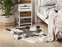 Faux Cowhide Rug Black Faux Fur Living Room