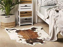 Faux Cowhide Rug Brown Faux Fur Living Room
