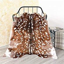 Faux Deer Rug 3x3.6 Feet Sika Deer Hide Carpet