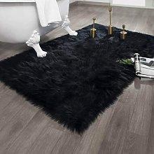 Faux Fur Area Rug for Bedroom Bedside Living Room