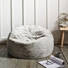 Faux Fur Beanbag, Dove Grey, One Size