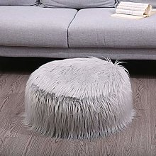 Faux Fur Inflatable Chair Sofa Stool Pluffy Foot