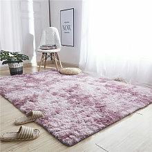 Faux Fur Rug Bedroom Rug Soft Rug (Purple Pink,