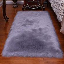 Faux Fur Rug Shaggy Sheepskin Area Small Rug for