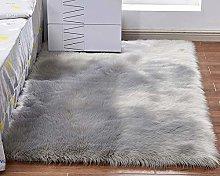 Faux Fur Rug Soft Shaggy Rugs Washable Fluffy