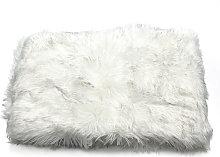 Faux Fur Shaggy Mat Rug Floor 80x120cm whitegrey