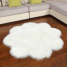 Faux lambskin sheepskin rug (60 x 60 cm) living