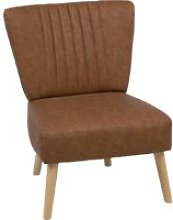 Faux Leather Armchair Golden Brown VAASA